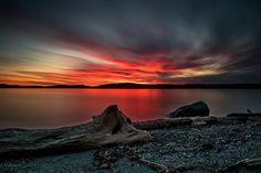 Sunset over San Juan Channel Lopez Island WA [OS] [OC] [4240x2932]