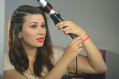 Hair curls with Babyliss curler on makeupswan.net