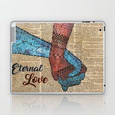 Holding Hands,Eternal Love,Space Dictionary Art Laptop & iPad Skin