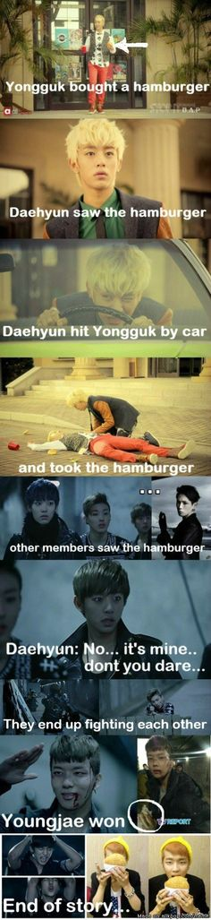 A Story of B.A.P and A Hamburger