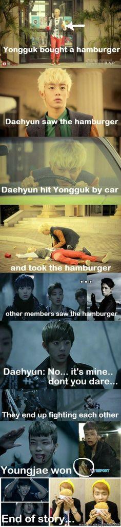 A Story of B.A.P and A Hamburger