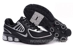 Men s Nike Shox R6 Shoes Black Silver New Release 64828def4