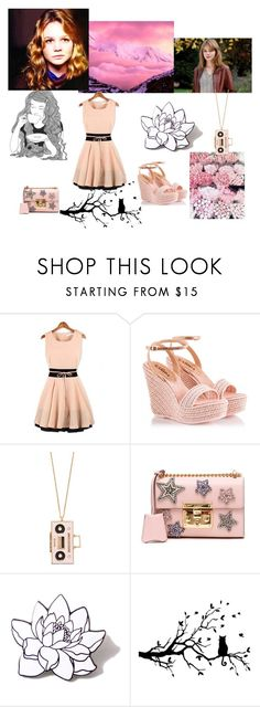 """""""Carey Mulligan"""" by danicathorne ❤ liked on Polyvore featuring Fratelli Karida, Kate Spade, Gucci, PINTRILL and GE"""