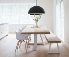 ZWAARTAFELEN I Mooie lichte eethoek met Scandinavische details I #interieur…