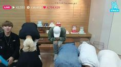 Monsta X 1st year anniversary on Naver V App. Bowing in gratitude to Monbebes