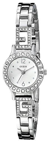 GUESS Womens U0411L1 SilverTone Jewelry Inspired Watch with SelfAdjustable Bracelet ** Check this awesome product by going to the link at the image.Note:It is affiliate link to Amazon. #iphonesia