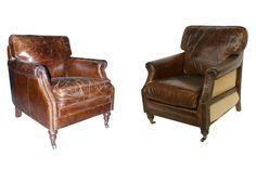 Foto de los sillones Churchill en piel vintage