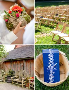 oh my gosh, check out this link to see this fantastic wedding with vintage/green ideas. Wedding of Amy Smart and Carter Oosterhouse.