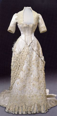 Dress worn by Maria Feodorovna, 1870's-80's  front