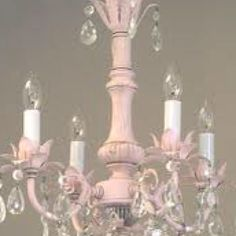 Painted chandeliers before and after shabby chic inspired before lighting chandeliers pleasant dreams crystal chandelier cottage haven interiors ms shabby chic aloadofball Images