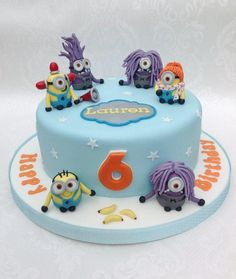 Minions from Despicable Me 2 cake - Cake by Deborah Cubbon (the4manxies)