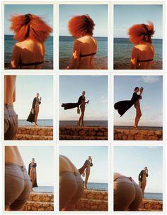 Jerry Hall and Grace Coddington by Antonio Lopez, Jamaica, 1975