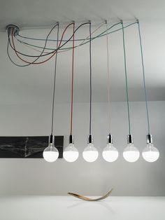 lampadario a sospensione con cavi a vista - Cerca con Google