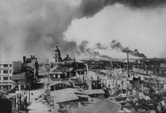 Manila burning, WWII Battle for Manila, Philippines, Feb. 1945 – www. Manila Philippines, Philippines Travel, World History, World War Ii, Ancient Greek Architecture, Gothic Architecture, Philippine Holidays, Story Of The World, Grand Mosque