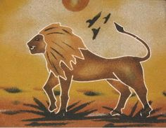 Cuadros de arena de Senegal Sand Painting, Sand Art, Watercolor Paintings, African American Art, African Art, Mundo Animal, Graffiti, Colouring Pages, Black Art