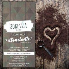 Card Vaga Atendente no Sorella Café: https://www.facebook.com/sorellacafesantacruz