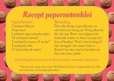 Recept pepernotenklei voor tijdens sinterklaas