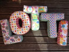 alphabetic pillows! like one facebook an win one! made by mah is des liab!  http://ninafuereder.blogspot.co.at/