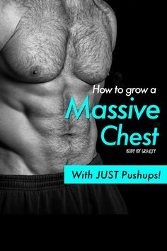 How to grow your chest with just pushups. Use these insane pushup progressions to strengthen and define your chest like never before! Bodyweight Strength Training, Pilates Training, Bodyweight Fitness, Running Training, Push Up Workout, Workout Men, Muscle Gain Workout, Workout Plans, Pec Workouts