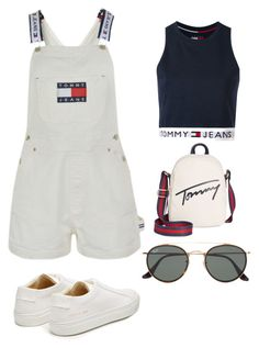 """Tommy if you like it"" by znhelen on Polyvore featuring Tommy Hilfiger, Common Projects and Ray-Ban"
