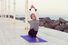 Een recordpoging buiten-yoga!