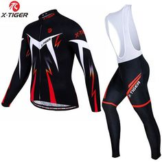 d205745692 X-Tiger 2017 New Winter Thermal Fleece Cycling Clothing Set Maillot Ropa  Ciclismo Invierno MTB Bicycle Jerseys Bike Sportswear
