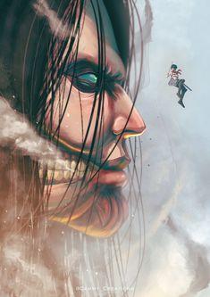Aot Eren, Eren X Mikasa, Attack On Titan Fanart, Attack On Titan Eren, Levi Titan, Annie Leonhart, Otaku, Eremika, Anime Nerd