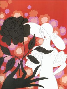 Black Rose - Erte - WikiArt.org