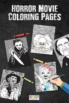 Horror movies are meant to scare and entertain you. With these free horror movie coloring pages, you can have fun coloring in the characters who scare you the most.