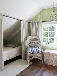 Romantic Bedroom Decor Ideas to Make Your Home More Stylish on a Budget - The Trending House Attic Bedroom Designs, Attic Bedrooms, Bedroom Ideas, Attic Renovation, Attic Remodel, Romantic Bedroom Decor, Bedroom Modern, Slanted Walls, Finished Attic