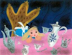 concept art for Disney's Alice in Wonderland, by Mary Blair