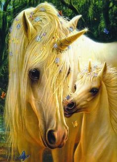 ❤ Golden unicorns