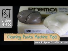 ▶ Cleaning Polymer Clay Pasta Machine Tip3 Translucent Clay - YouTube PcT