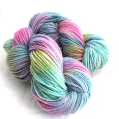 OPAL - Hand Dyed Yarn - Hand Painted Merino Wool  - Green - Pink - Blue - Purple - Worsted op Etsy, 16,63 €