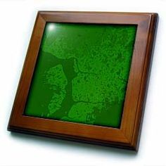 "Abstract Green Splatter - 8x8 Framed Tile by Yves Creations. $22.99. Dimensions: 8"" H x 8"" W x 1/2"" D. Keyhole in the back of frame allows for easy hanging.. Solid wood frame. Cherry Finish. Inset high gloss 6"" x 6"" ceramic tile.. Abstract Green Splatter Framed Tile is 8"" x 8"" with a 6"" x 6"" high gloss inset ceramic tile, surrounded by a solid wood frame with predrilled keyhole for easy wall mounting."