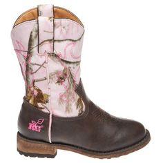 Realtree Girl Pink Camo Western Boots  #realtreegirl #pinkcamo #boots