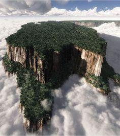 Le mont Roraima est une montagne d'Amérique du Sud avec des falaises d'environ 1.000 mètres de haut