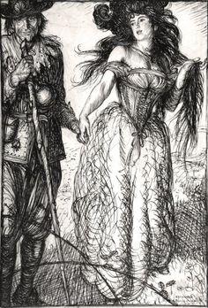 Madam Wanton and the Faithful; illustration for John Bunyan's The Pilgrim's Progress, Edmund J. The Pilgrim's Progress, John Bunyan, British Books, British Traditions, Detail Art, Illustrators, Joseph, Original Artwork, Illustration Art