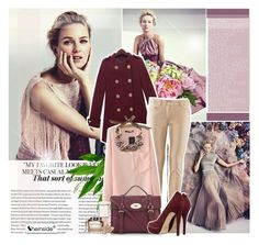 """""""Be an English Rose"""" by mimrella ❤ liked on Polyvore featuring Nearly Natural, Mulberry, MICHAEL Michael Kors, Witchery, Chloé and Blue Nile"""