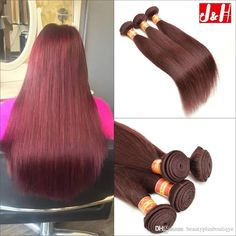 Wholesale Brazilian Human Hair Extensions UK 99J Hair Weft Bundle Hair Peruvian Straight Hair Malaysian Remy Hair Weaves Burgundy Cheap Hair Online with $19.1/Piece on Beautyplusboutiqye's Store | DHgate.com
