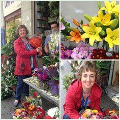 Comprado algunas flores en la calle Tajo :)