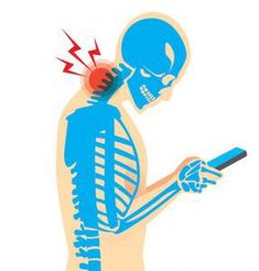 TEXT NECK: damage to the neck muscles and spine caused by frequently bending over a smartphone, tablet device, etc for long periods of time. Neck And Back Pain, Neck Pain, Neck Headache, Smartphone, Relax, Posture Correction, Good Posture, Health Advice, Chiropractic