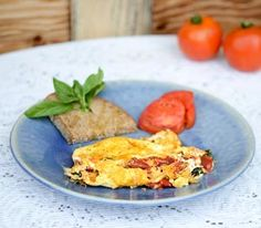 Tomato, basil, and Goat cheese Omelet: Everyone knows that breakfast is the most important meal