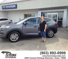 https://flic.kr/p/xykxvT | Congratulations Gail on your new car from Jane Smallwood at Texoma Hyundai! #NewCar | www.deliverymaxx.com/DealerReviews.aspx?DealerCode=L967