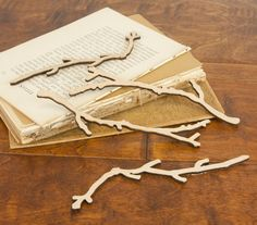 Prima  Wood Branches  - Embellishments Vintage  distressed wooden pieces. $4.99, via Etsy.
