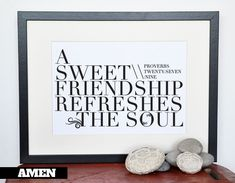 DIY Printable Christian Poster. 8x10in. Sweet Friendships