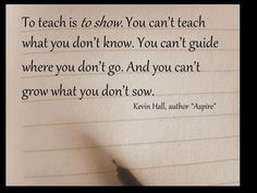 To Teach is To Know .