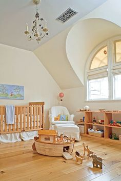 Out of this world nursery...but mostly loving the wooden Noah's ark.