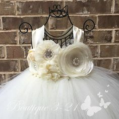 Ivory Flower Girl Dress Ivory Tutu Dress Ivory Tulle Dress