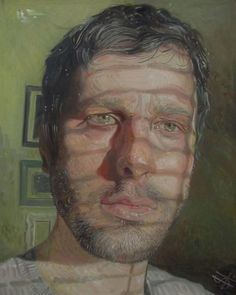 "Steven Higginson on Instagram: ""This was one of the the first self portraits I painted with the shadow effect contouring the face. Oil on board 2018."""